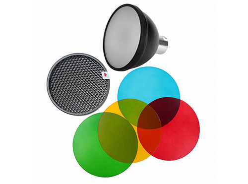 AD200/360 Reflector with Colour Gels + Honeycomb grid