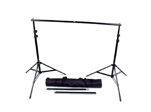 Backdrop-Pole-with-2x-Stands